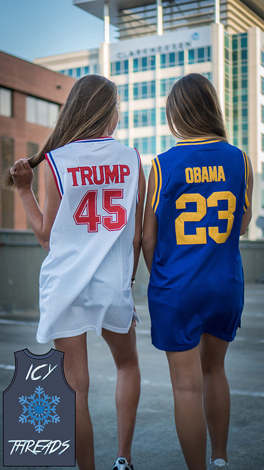 "Obama High School ""Punahou"" 23 Basketball Jersey - Icy Threads LLC"