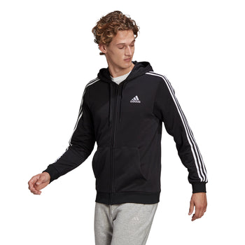 Felpa con cappuccio adidas Essentials French Terry 3-Stripes Full-Zip, Abbigliamento Sport, SKU a721000047, Immagine 0