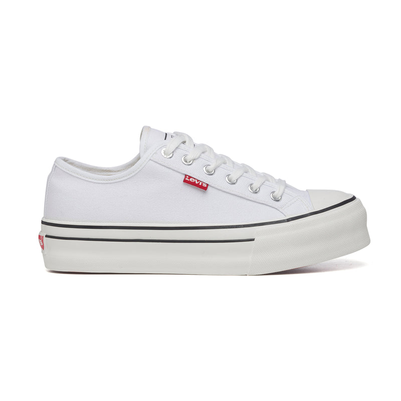 Sneakers bianche con suola platform Levi's High Ball, Donna, SKU k232000151, Immagine 0