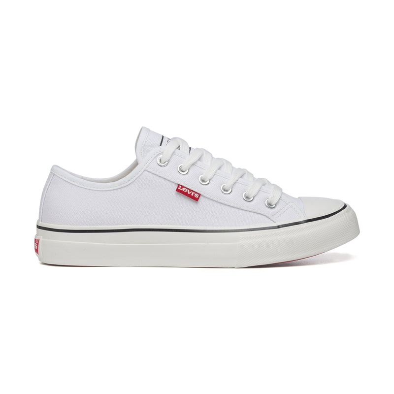 Sneakers bianche in canvas Levi's Ball Low, Donna, SKU k232000153, Immagine 0