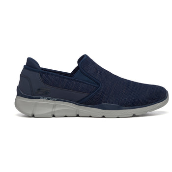 Sneakers slip-on blu navy in tessuto con inserti elastici Skechers Equal 3.0, Brand, SKU m113000034, Immagine 0