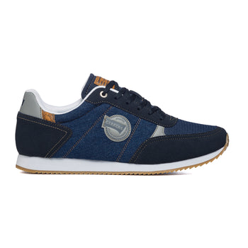 Sneakers blu navy in tessuto con patch logo laterale Carrera, Sneakers Uomo, SKU m114000439, Immagine 0