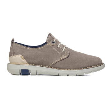 Sneakers grigie in pelle scamosciata con cuciture a vista P Essentials, Brand, SKU m115000074, Immagine 0