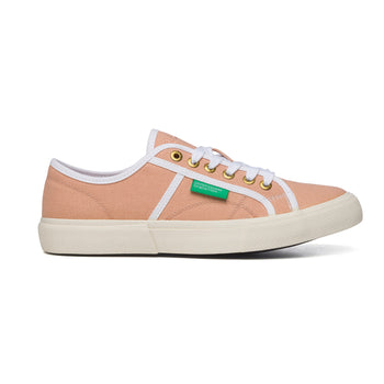 Sneakers corallo in canvas Benetton Tyke Plus, Sneakers Sport, SKU s311500040, Immagine 0