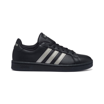 Sneakers nere in pelle e similpelle con strisce a contrasto Adidas Grand Court, Donna, SKU s314000038, Immagine 0