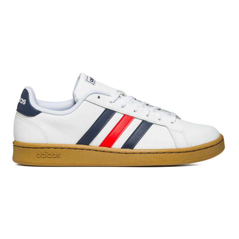 Sneakers bianche con strisce a contrasto Adidas Grand Court, Brand, SKU s324000049, Immagine 0