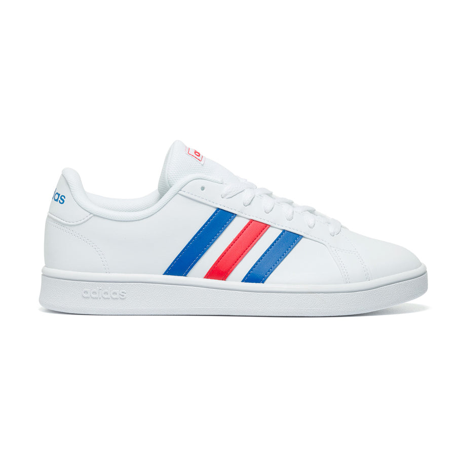 Sneakers bianche con strisce a contrasto Adidas Grand Court, Brand, SKU s324000051, Immagine 0