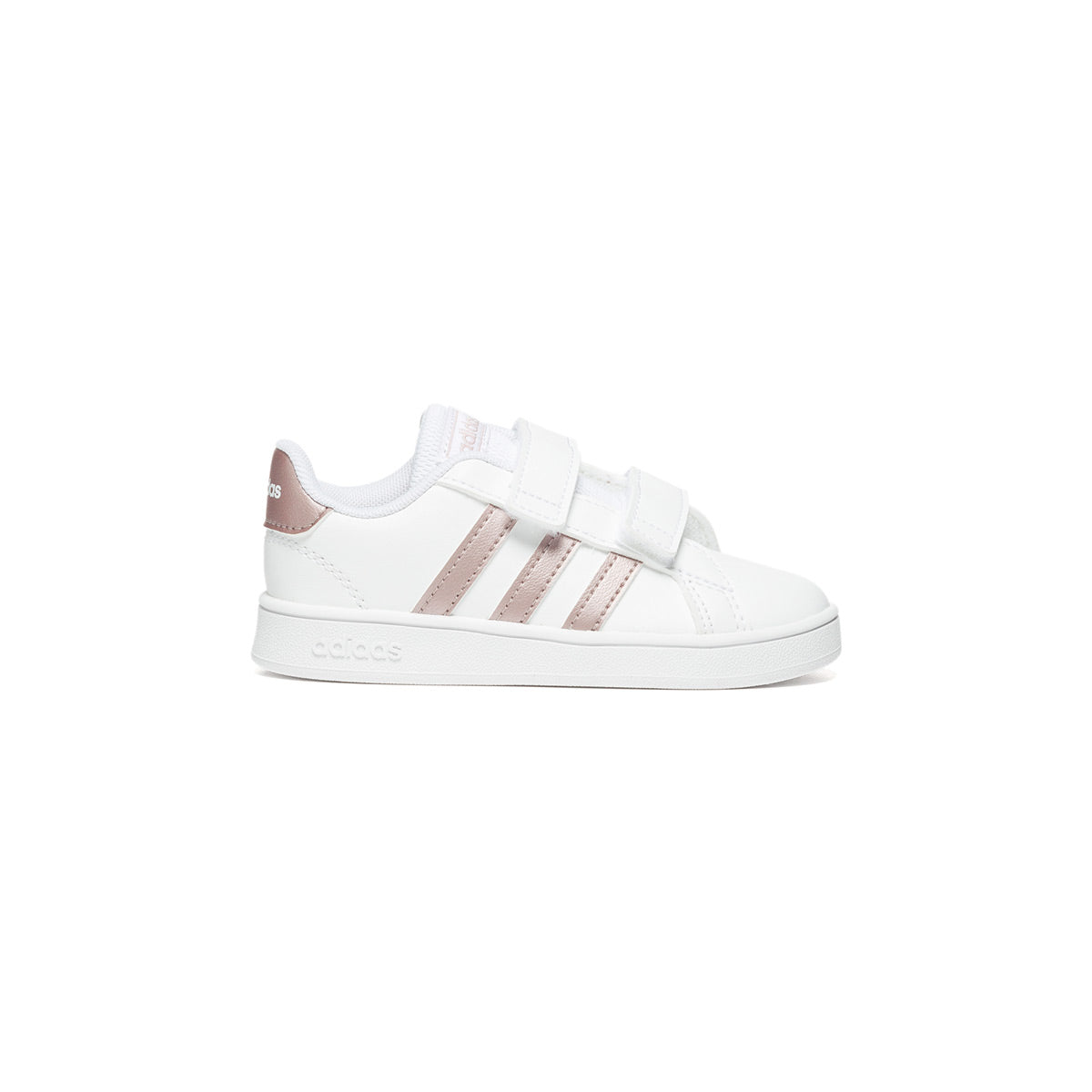 Sneakers bianche con strisce a contrasto Adidas Grand Court I, Brand, SKU s334000028, Immagine 0