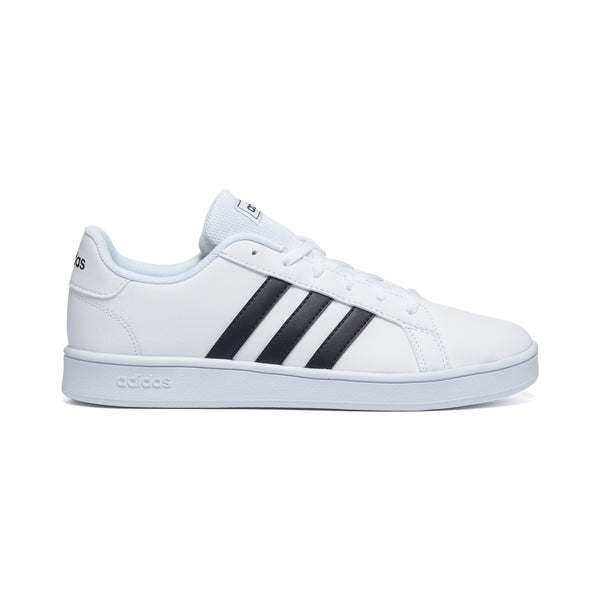 Sneakers bianche con strisce a contrasto Adidas Grand Court K, Brand, SKU s354000032, Immagine 0