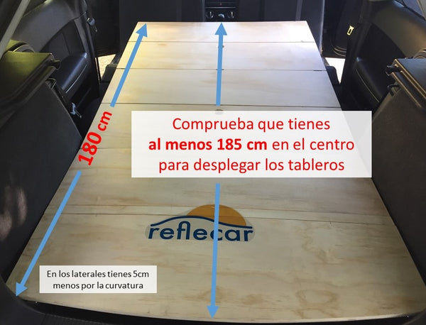 longitud total cama de reflecar