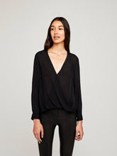 Load image into Gallery viewer, L'agence, Kyla draped blouse, Black