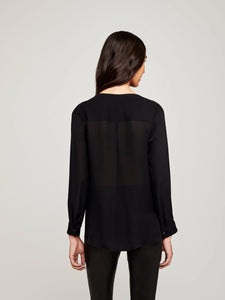 L'agence, Kyla draped blouse, Black