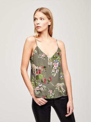 L'agence, Jane strap top, French moss multi