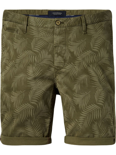 SCOTCH & SODA, Chino Short in Stretch Twill, Khaki