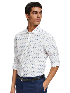 SCOTCH & SODA - Slim fit shirt - White/ blue