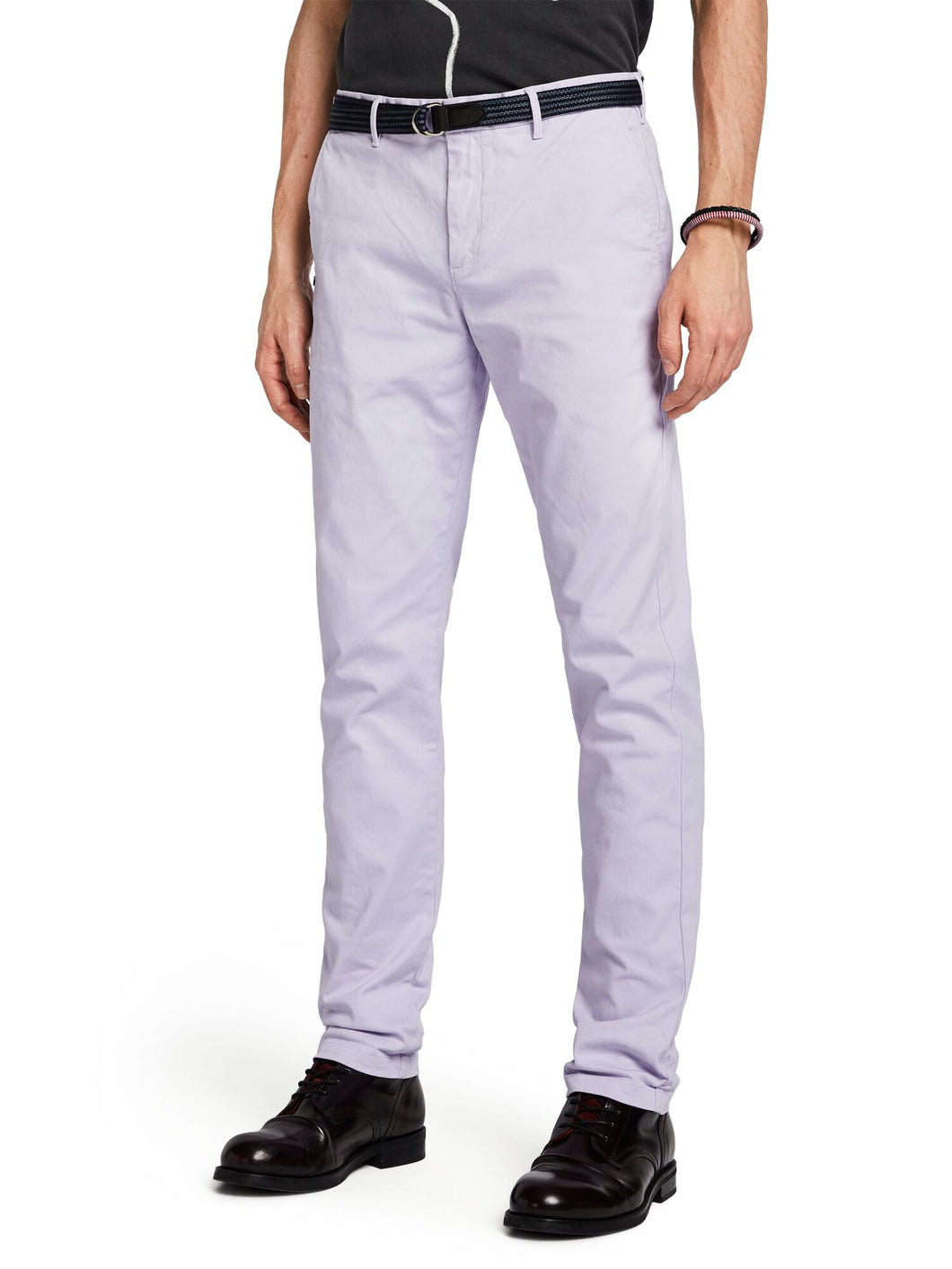 SCOTCH & SODA - Blauw stuart chino - Lilac
