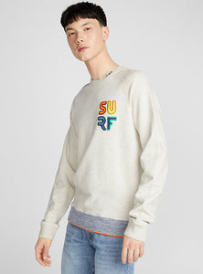 Scotch & Soda, Mens Crewneck Sweat with Surf Emblem