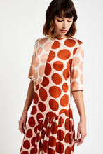 Load image into Gallery viewer, Ottod'Ame, Mid Dress with maxi polka dots, Argilla