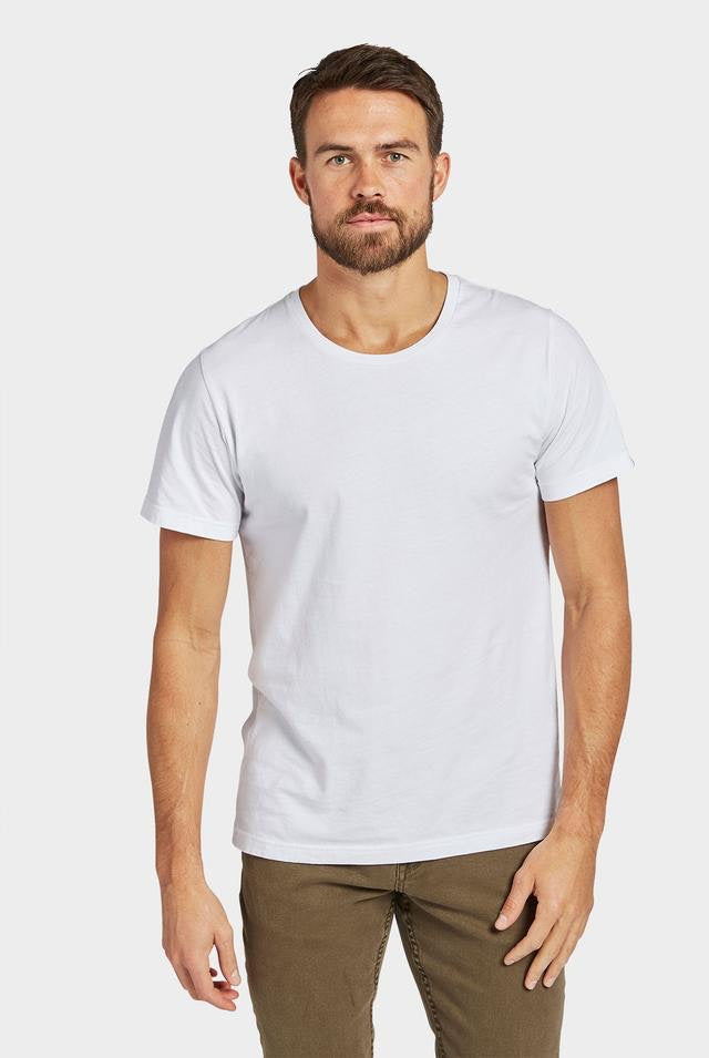 The Academy Brand - Acad Basic Crew Tee - White