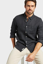 Load image into Gallery viewer, The Academy Brand - Hampton Linen Shirt - Black