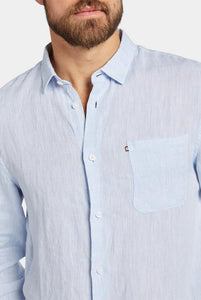 The Academy Brand - Newport Linen Shirt - Light Chambray