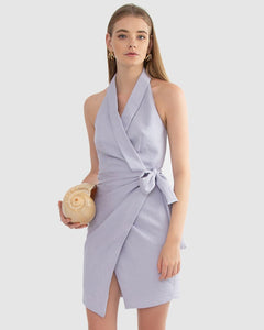 Carver, Joelle Wrap Dress, Lilac