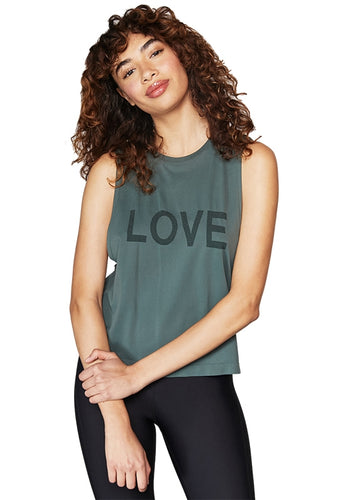Spiritual Gangster, Love Active Flow Top - Olive