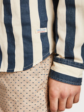 Load image into Gallery viewer, Scotch & Soda, Mens Regular Fit Summer Twill Shirt, Navy & Cream Stripe