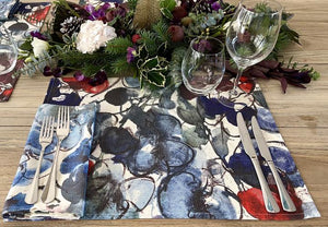 MARY SCHEPISI DESIGNS Placemats - Black or Natural, Kallie, Mary (set of 4)