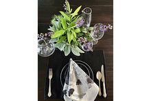 Load image into Gallery viewer, MARY SCHEPISI DESIGNS Placemats - Black or Natural, Kallie, Mary (set of 4)