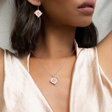 Load image into Gallery viewer, MURKANI - Hope Necklace with White Topaz - Rose Gold Plate