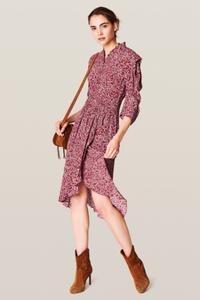 BA&SH, Chelsea Dress, Carmin Red