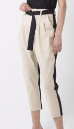 Third Form, 2 Tone Trouser, Sand and Black