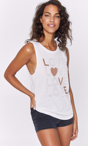 spiritual gangster, Love muscle tank, white