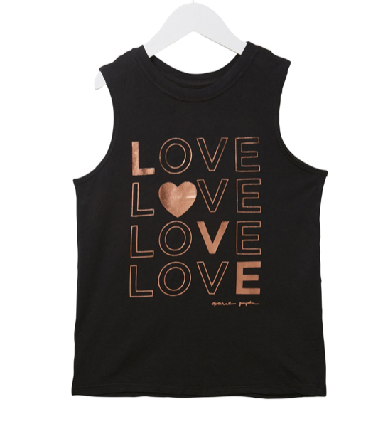 Spiritual Gangster, Love Surplice swing tank, Vintage black