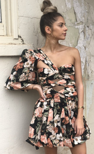 Load image into Gallery viewer, Thurley, Lantern Dress, Floral Summer Black