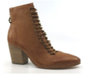 Django & Juliette, Izorass booties, Dark Tan Leather