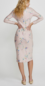 Auguste, Dawn Spencer Long Sleeve Slip Midi Dress, Blush