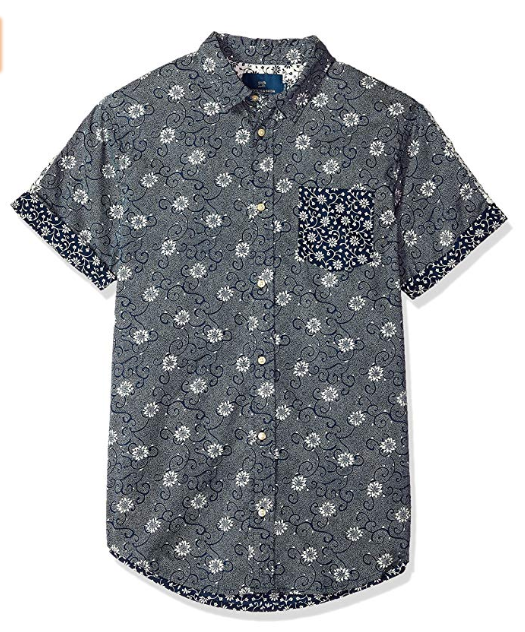 Scotch & Soda, Mens Mix & Match Short Sleeve Shirt