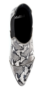Mollini, Diesels, Black and white snake skin boots