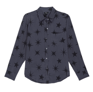 Rails, Kate Silk Shirt, Charcoal Constellations