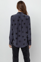Load image into Gallery viewer, Rails, Kate Silk Shirt, Charcoal Constellations