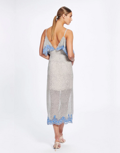We Are Kindred, Argentina Slip Dress, Blue Tango