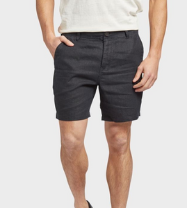 THE ACADEMY BRAND - Marco Linen Short - Black