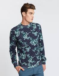 SCOTCH & SODA Crewneck Sweat with Toile du Jouy