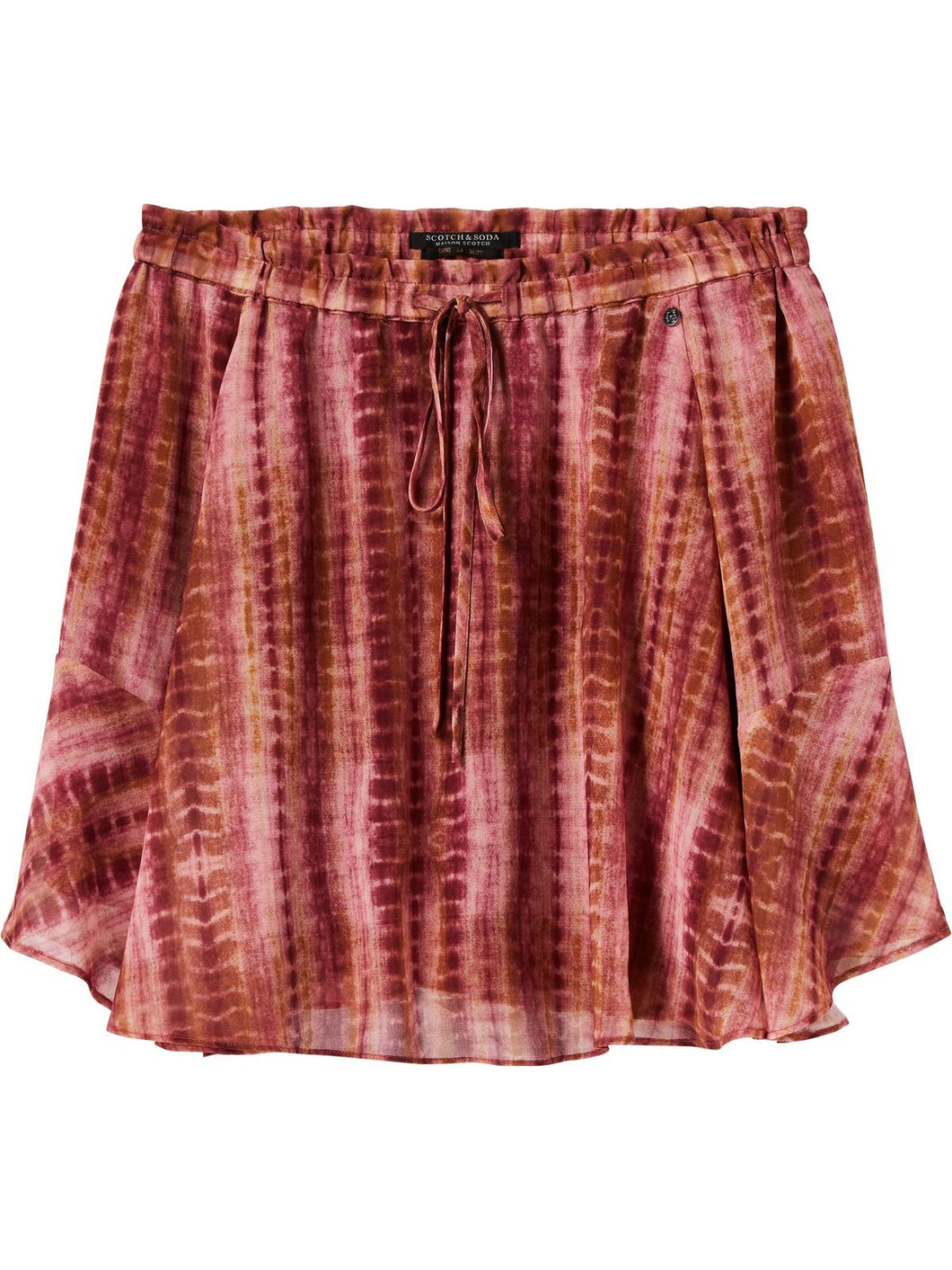 Scotch & Soda Maison Scotch, Short drapey printed skirt- Combo C