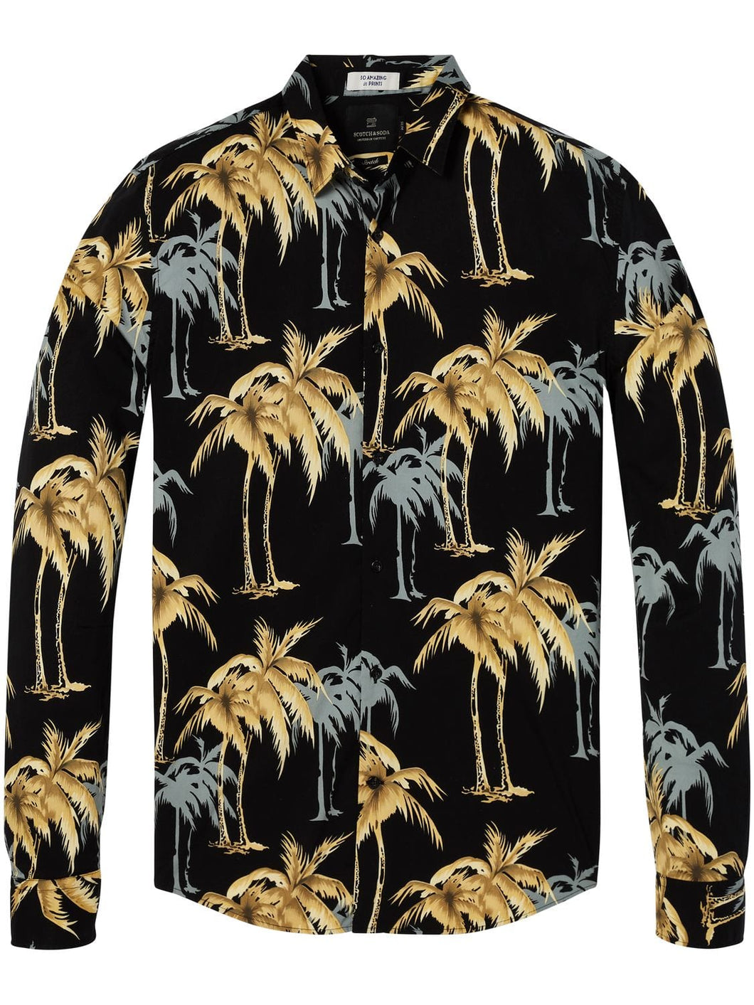 Scotch & Soda, Longsleeve printed Mens shirt