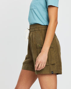 SCOTCH & SODA - Drapey Viscose cupro blend shorts - Military