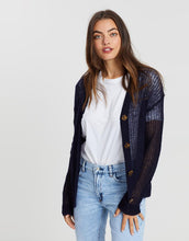 Load image into Gallery viewer, Scotch & Soda, Lightweight colourful cardigan, Night Navy