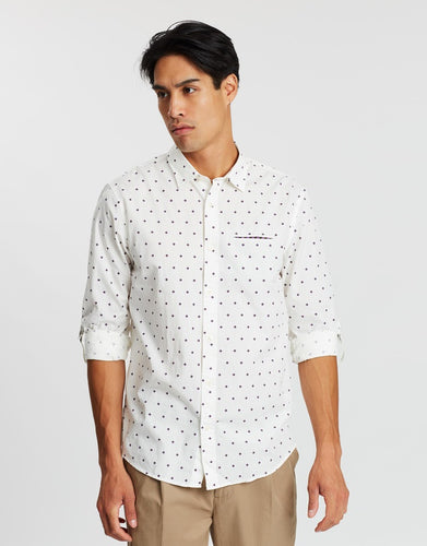 SCOTCH & SODA Regular Fit Classic Shirt - White Combo